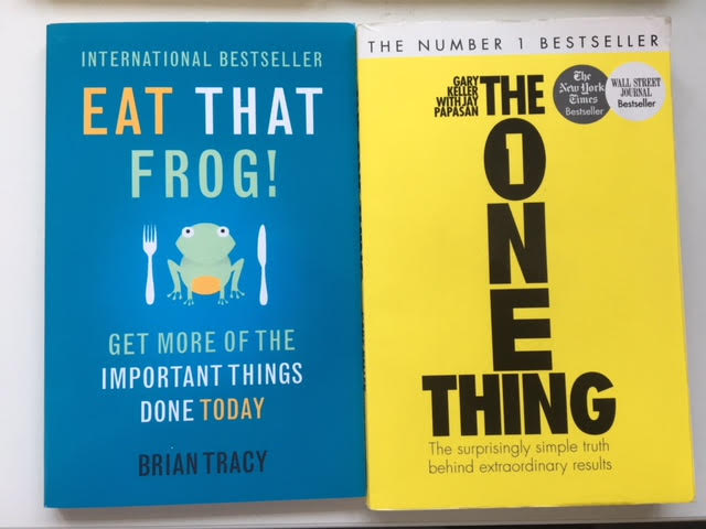 Eat That Frog and The One Thing brilliant books to fight procrastination