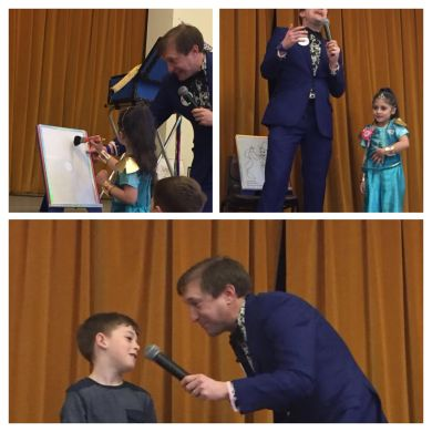 Magic painting in Ritchie's magic show