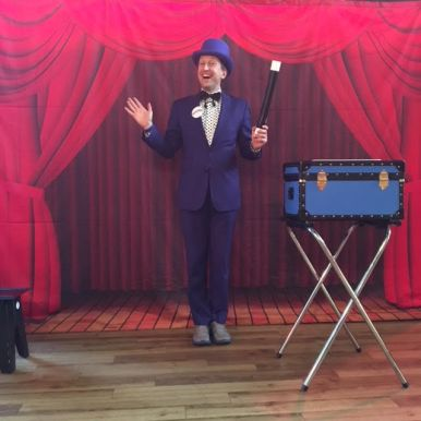 Ritchie's Magic Show Backdrop - Part of His Two Hour Birthday Party Package