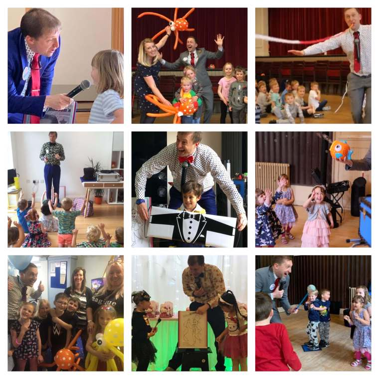 Birthday party entertainer Ritchie Rosson. Kids parties are 100 x better when Ritchie is there : )
