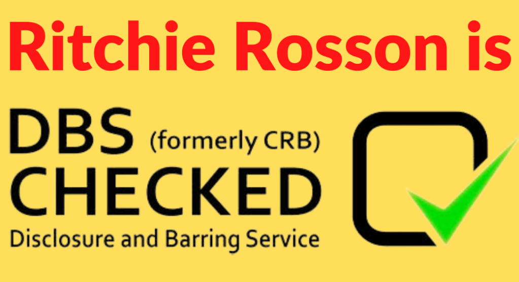Children's entertainer Ritchie Rosson is DBS checked.