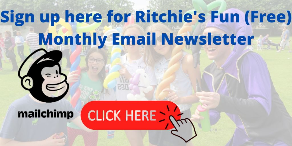 Sign up to Ritchie's monthly email for news on coming shows, new merch store (coming soon) and new videos.